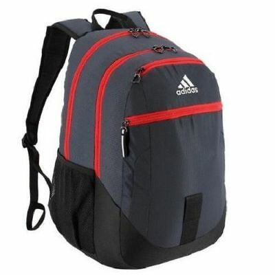 $39.99 • Buy Adidas Foundation III Backpack Athletic/Laptop Bag Grey/Red 5143876 New With Tag
