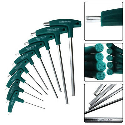 AU5.83 • Buy 1.5mm-10mm T-Handle Hex Allen Key Wrenches Screws Screwdriver Driver Steel Tools