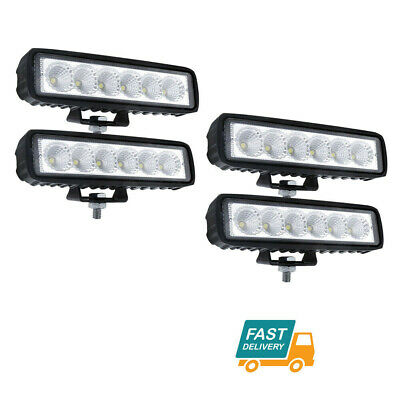 AU23.99 • Buy 4x 6inch 18W LED Work Light Driving Bars Reverse DRL Work Lamp Flood Offroad
