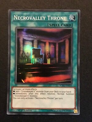 Yugioh: Necrovalley Throne SOFU-EN055 - Super Rare - 1st Edition • 0.99£