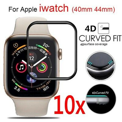 $ CDN2.58 • Buy 10x Apple Watch Series 4 Full Cover 4D Tempered Glass Screen Protector 40/44mm