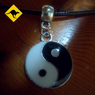 AU4.80 • Buy Yin And Yang Yin Yang Tao Pendant With An Adjustable Dark Leather Necklace  ☯️