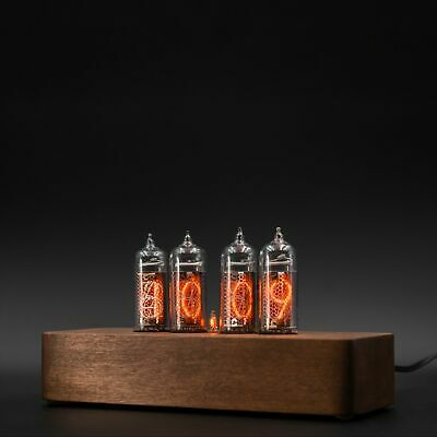 £147.97 • Buy Nixie Tube Clock 4x IN-14 Vintage Retro Table Wooden Glowing Clock Home Decor