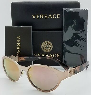 068cb87eb958 New Versace Sunglasses VE2179 13614Z Rose Gold Pink Cateye Oval AUTHENTIC  2179 • 116.99
