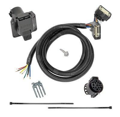 $ CDN75.81 • Buy 7-Way RV Trailer Wiring Harness Kit For 15-20 Ford F-150 All Styles Plug Play