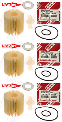 $20.55 • Buy 3-Pack GENUINE Oil Filter 04152-YZZA1 + Drain Washer For Toyota & Lexus