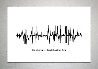 £7.50 • Buy The Libertines - Can't Stand Me Now - Sound Wave Print Poster Art