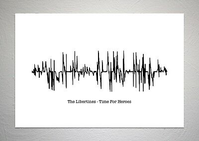£7.50 • Buy The Libertines - Time For Heroes - Sound Wave Print Poster Art