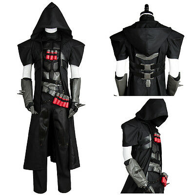 AU193.79 • Buy Game Overwatch OW Reaper Gabriel Reyes Cosplay Suit Uniform Coat Outfit Costume