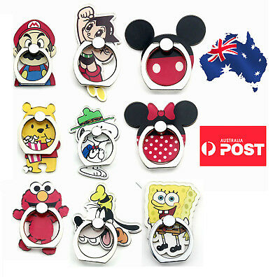 AU10.99 • Buy Phone Ring Finger Holder Pop Stand Grip IPhone Samsung  Socket Cartoon Mickey