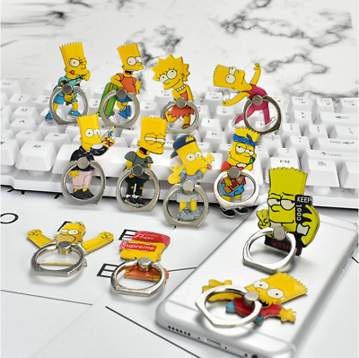 AU10.99 • Buy Phone Finger Ring Holder Pop Stand Grip IPhone Socket Simpsons Homer Bart Lisa
