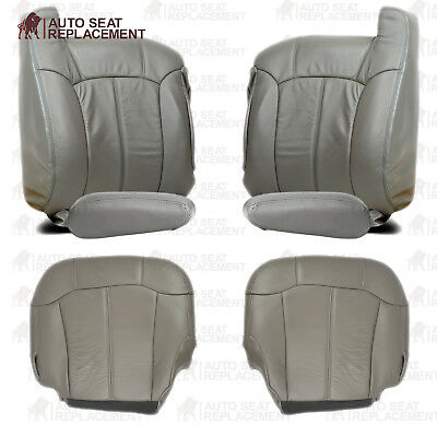 $604.10 • Buy 1999 2000 2001 2002 Chevy Silverado- GMC Sierra Leather Seat Cover Package Gray