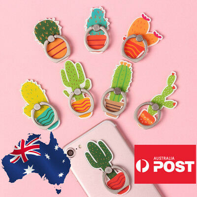 AU9.99 • Buy Cute Finger Ring Holder Pop Stand Grip IPhone Samsung Phone Socket Cactus Plant