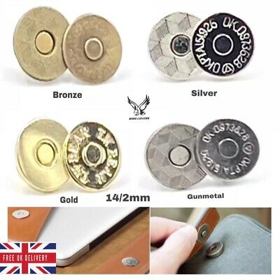 14/2mm Magnetic Button Snap Fasteners  Closures Craft Purse Hat Bag Various Qnt • 1.79£