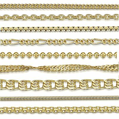 Amberta Genuine Gold Plated On Real 925 Sterling Silver Necklace Chain Italy • 15.49£