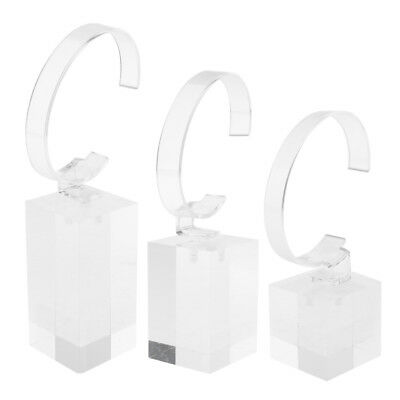 £6.19 • Buy Clear Acrylic Watch Display Holder Stand Rack Showcase Tools 3 Color