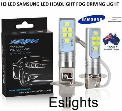 AU35.95 • Buy 2x  H3 Samsung Led Headlight Fog Driving Light Bulb Car Ute 4wd Lamp Globe