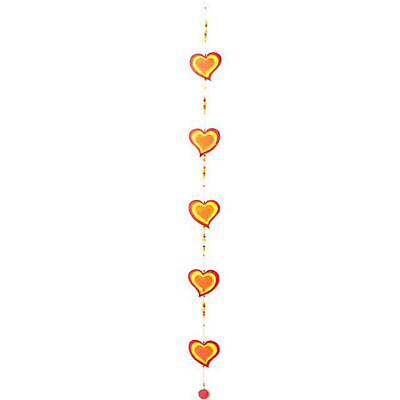 £7.78 • Buy String Of Hearts Suncatcher 65cm Wind Mobile Wall Hanging Garden Home Porch