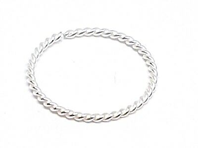 AU29.40 • Buy Nose Ring Delicate Fine Twisted Wire 7mm 22g (0.6mm) Sterling Silver Split Ring