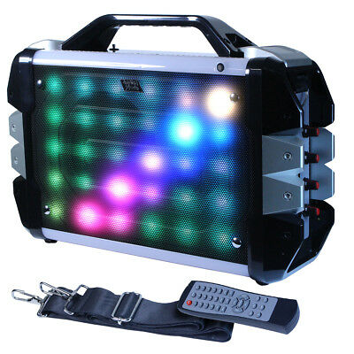 "$59.99 • Buy Fully Amplified Bluetooth 1000 Watts Peak Power 6.5"" Speaker LED Light W/ Strap"