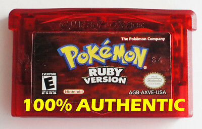 $100 • Buy ORIGINAL AUTHENTIC Pokemon Ruby Version Can Save New Battery Game Boy Advance