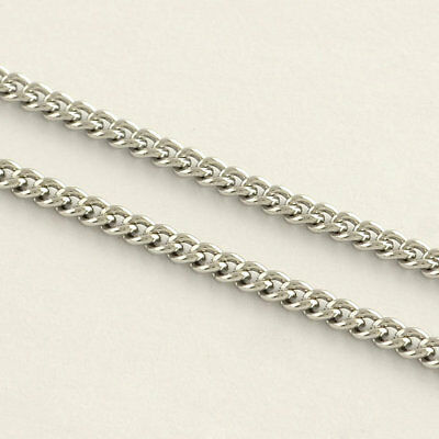 Stainless Steel Jewellery Making Curb Chain Cut To Length  - By Metre • 5.90£