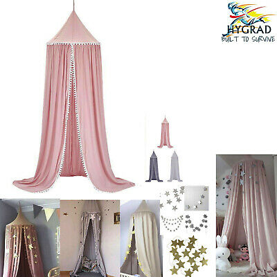 Kid Baby Bed Canopy Bedcover Mosquito Net Curtain Round Dome Tent Cotton Bedding • 19.99£