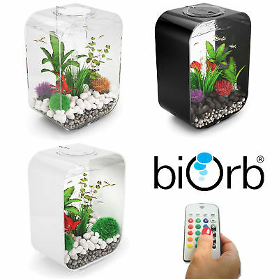 Biorb Life 15 30 MCR LED Colour Change Clear Black White Aquarium Fish Tank • 28.95£