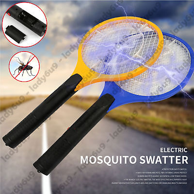 AU11.95 • Buy Electric Bug Zapper Tennis Racket Mosquito Fly Swatter Killer Insect Handheld