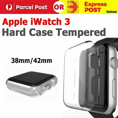 AU8.61 • Buy 38mm/ 42mm Clear Ultra Full Case Cover Screen Protector For Apple Watch Series 3