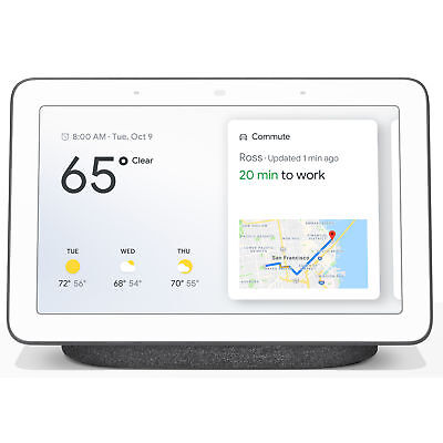 AU90.40 • Buy Google Nest Hub With Google Assistant (GA00515-US) - Charcoal