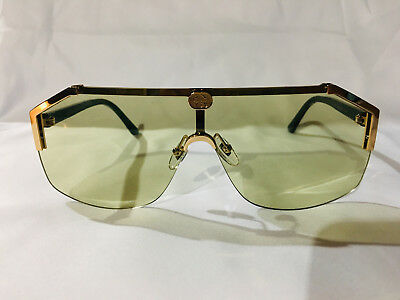 753362f369 Authentic New Gucci Sunglasses GG1830S Mens Metal Shield Gold Frame Green  Lens • 199.00