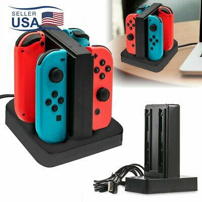 $10.99 • Buy 4 Port Controller Charger Charging Dock Station For Nintendo Switch Joy-Con USA