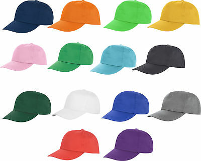 £3.69 • Buy US Mens Womens Ladies Baseball Cap Poly Cotton Plain Sports Summer Hat