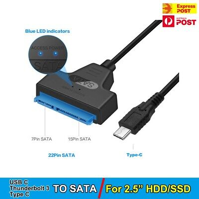 AU10.95 • Buy Type C USB C To SATA III Converter Adapter Cable For 2.5  Hard Drive HDD SSD  AU