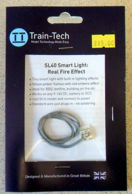 Train-Tech - SL40 Smart Light - Real Fire Effect - 00 Gauge - New • 15£