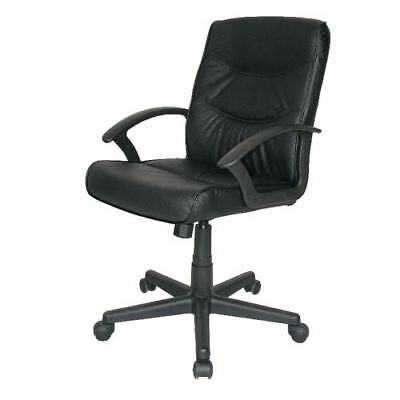 Black Rio Leather Faced Executive Home / Office Business / Computer Chair + 24h • 58.95£