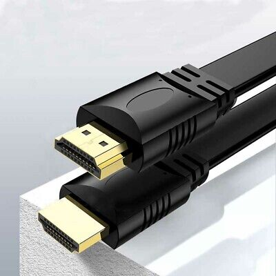 AU12.95 • Buy HDMI Cable V1.4 3D Flat High Speed With Ethernet Full HD 1080P HDTV Cord