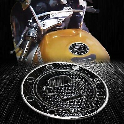 $13.88 • Buy Chrome Silver+Black Gas Tank Fuel Cap Cover Protect Pad 97-03 GSXR-600/750/1000