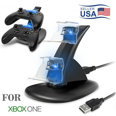 $9.79 • Buy LED Dual Fast Charging Dock Station Charger For Xbox One / Xbox One S Controller