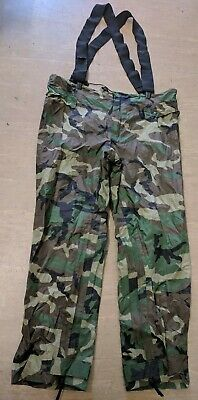 $90.77 • Buy Orc Industries US Military Woodland Camo Improved Rainsuit Trousers Size Large