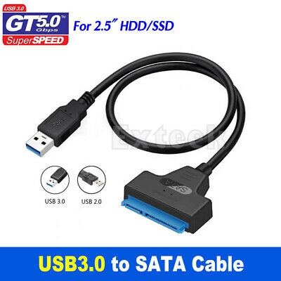 AU8.95 • Buy USB 3.0 To SATA 2.5  Hard Drive HDD SSD Adapter Converter Cable 22Pin UASP