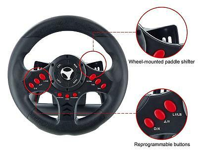 Xbox One Steering Wheel And Pedal Set Gaming Racing Driving Simulator PS4 PS3 UK • 69.99£