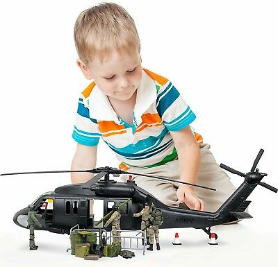 $66.35 • Buy Kids Military Play Set Combat Helicopter 30 Piece Pretend Boy Gift Figure New