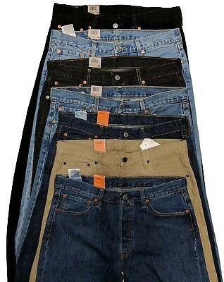 8d4af6a7 Levis 501 Original Fit Men's Jeans Straight Leg Levi's Button Fly Fast  Shipping • 40.00$