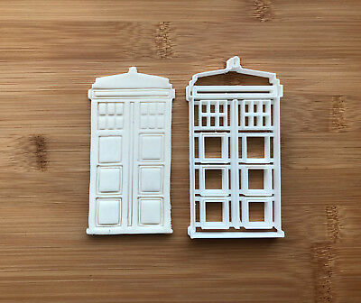 The Tardis Doctor Who Cookie Cutter Fondant Cake Decorating Mold • 5£