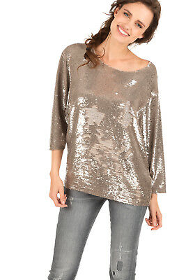 $ CDN264.64 • Buy IRO Alya Sequin Tulle Top GOLD, IT 34