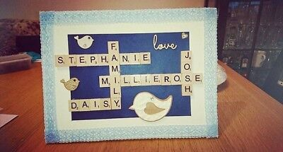 Homemade Personalised Scrabble Art Picture Canvas Gift • 13£