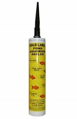 Gold Label Pond Aquarium 290ml Underwater Sealant Black Silicone • 17.69£