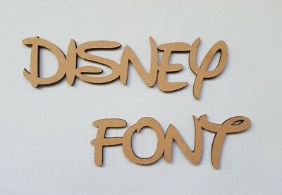 Wooden MDF SINGLE Letters 3mm Thick! 4 Heights Available Disney Font • 1.25£